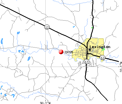 Lexington, MS (39095) map