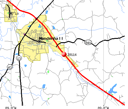 Mendenhall, MS (39114) map