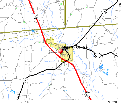 Mount Olive, MS (39119) map