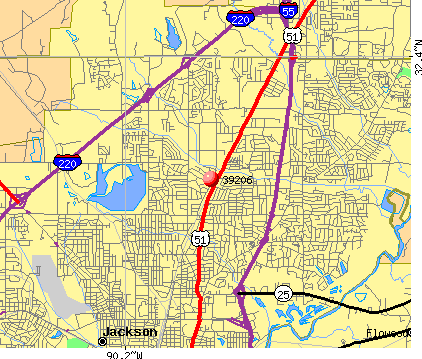 Jackson, MS (39206) map