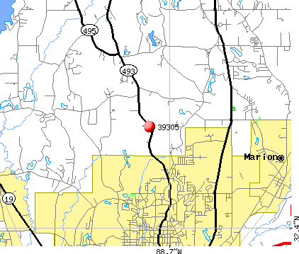 Meridian, MS (39305) map