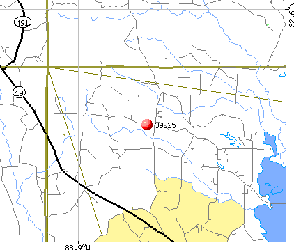 Collinsville, MS (39325) map