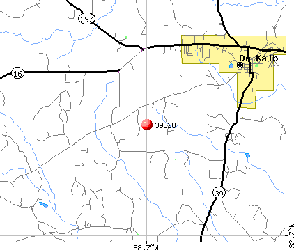 De Kalb, MS (39328) map