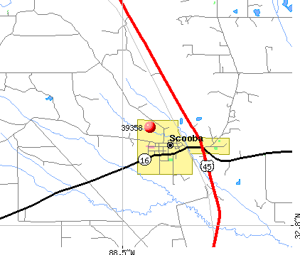 Scooba, MS (39358) map