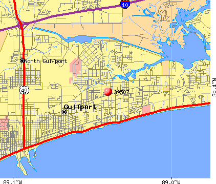 Gulfport, MS (39507) map