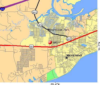 Bay St. Louis, MS (39520) map