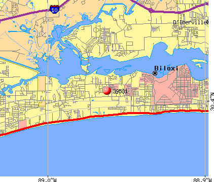 Biloxi, MS (39531) map