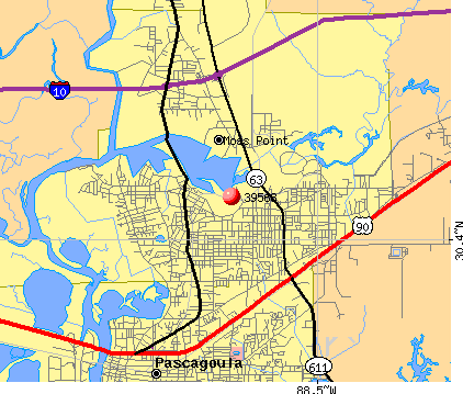 Moss Point, MS (39563) map