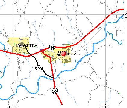 Bude, MS (39630) map