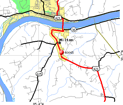Milton, KY (40045) map