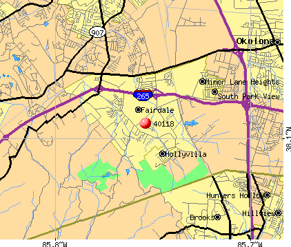 Hollyvilla, KY (40118) map