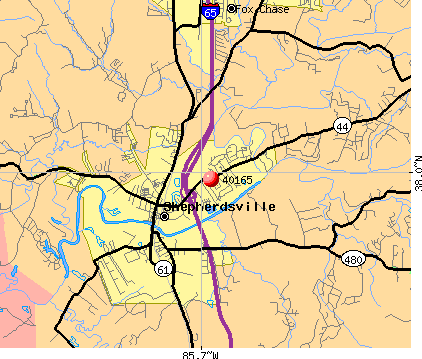 Shepherdsville, KY (40165) map