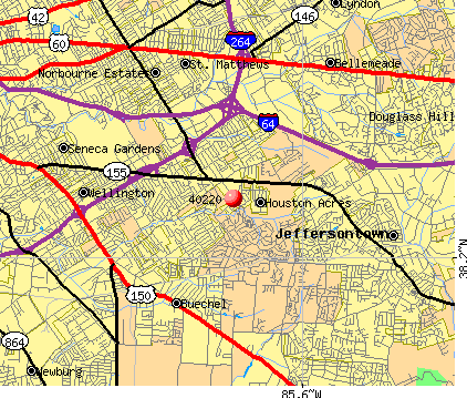 Jeffersontown, KY (40220) map