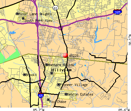 Hillview, KY (40229) map