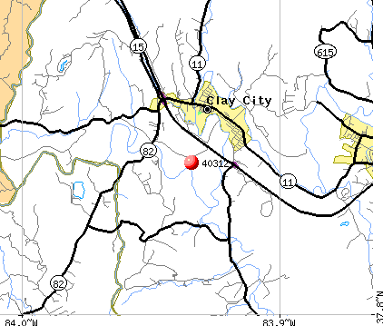 Clay City, KY (40312) map