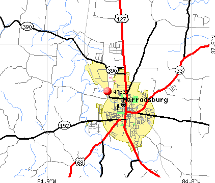 Harrodsburg, KY (40330) map