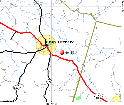 Crab Orchard, KY (40419) map