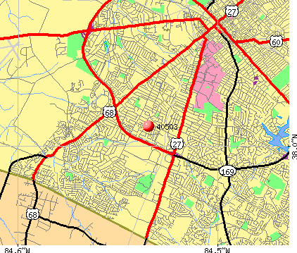 Lexington-Fayette, KY (40503) map