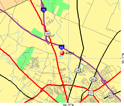 Lexington-Fayette, KY (40511) map