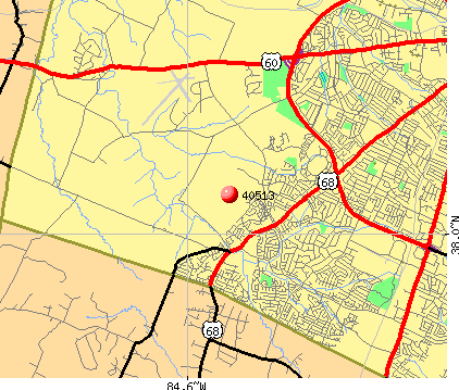 Lexington-Fayette, KY (40513) map