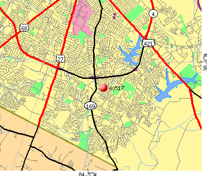 Lexington-Fayette, KY (40517) map