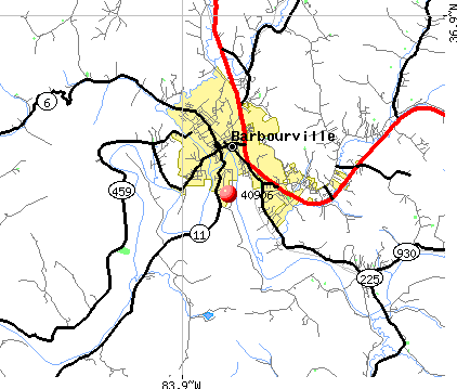 Barbourville, KY (40906) map