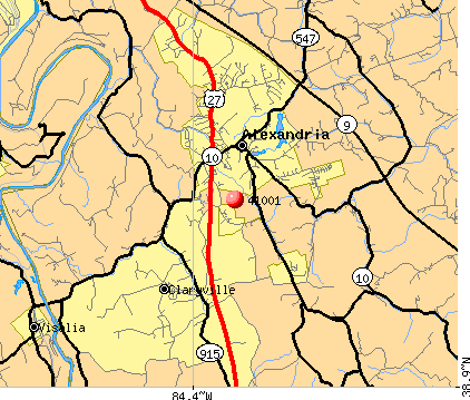 Claryville, KY (41001) map