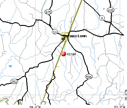 Germantown, KY (41044) map