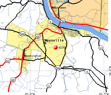 Maysville, KY (41056) map