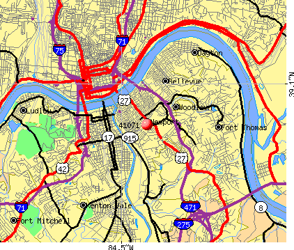 Newport, KY (41071) map