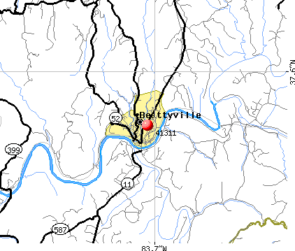 Beattyville, KY (41311) map