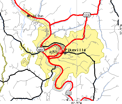 Pikeville, KY (41501) map
