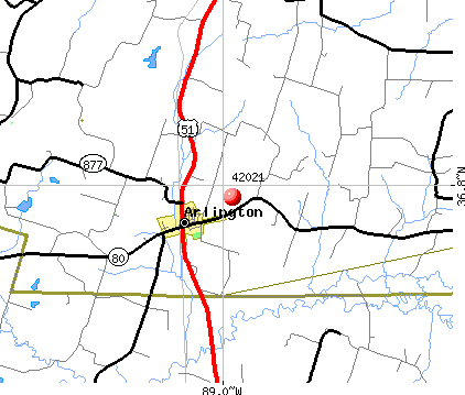 Arlington, KY (42021) map