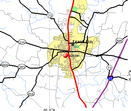 Franklin, KY (42134) map