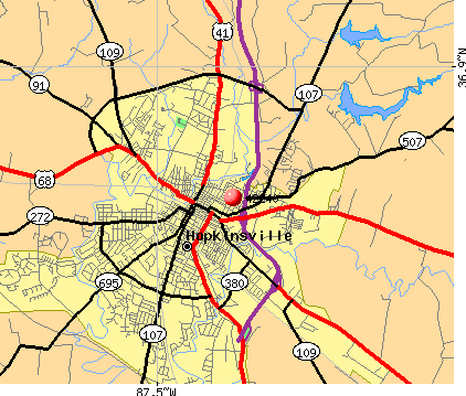 Hopkinsville, KY (42240) map