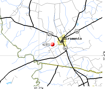 Sacramento, KY (42372) map