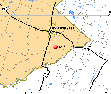 Whitesville, KY (42378) map