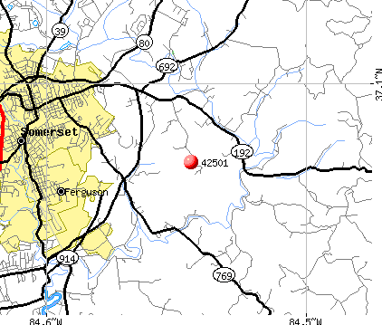 Somerset, KY (42501) map
