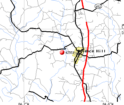 Science Hill, KY (42553) map