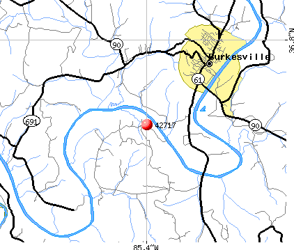 Burkesville, KY (42717) map