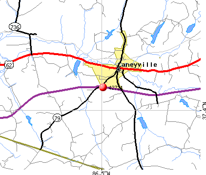 Caneyville, KY (42721) map