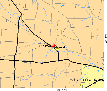 Granville South, OH (43001) map