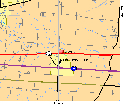 Kirkersville, OH (43033) map