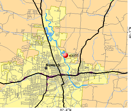 Newark, OH (43055) map