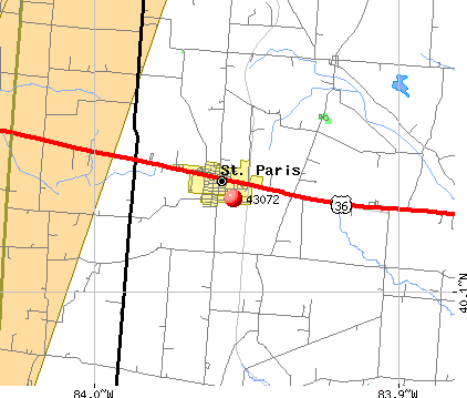 St. Paris, OH (43072) map