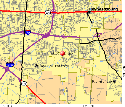 Columbus, OH (43109) map