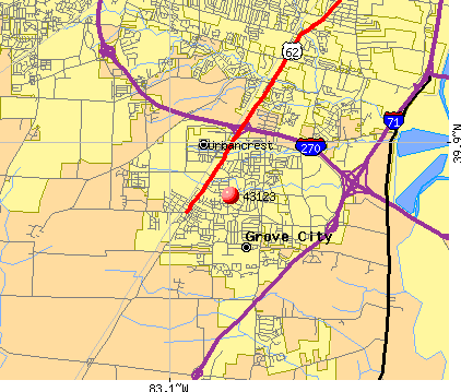 Grove City, OH (43123) map