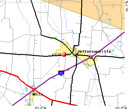 Jeffersonville, OH (43128) map