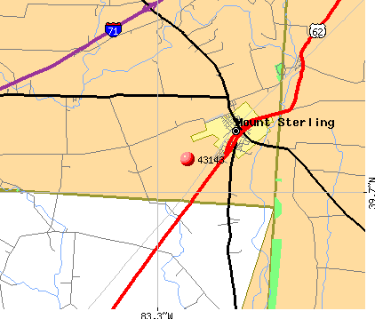 Mount Sterling, OH (43143) map