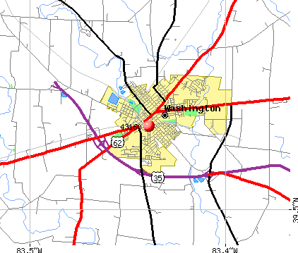 Jeffersonville, OH (43160) map